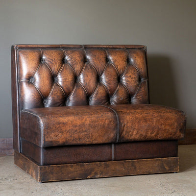 Aged Leather Banquette