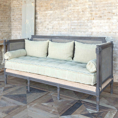 Cane Back Lounge-Iron Accents