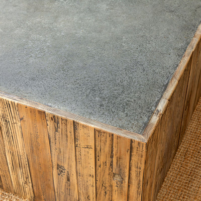 Aged Zinc Coffee Table