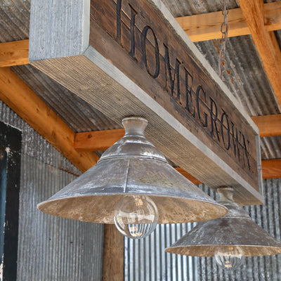 Home Grown Canopy Light Fixture - Close Up