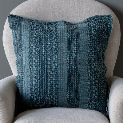 Heathered Waffle Weave Pillows (4-Styles)-Iron Accents