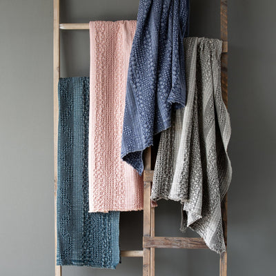 Heathered Waffle Weave Throws (4-Styles)-Iron Accents