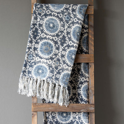 Suzani Printed Cotton Throw