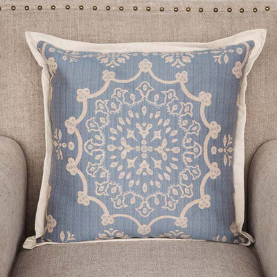 Edge Hill Down Pillow, Wedgewood (Set-2) | Iron Accents