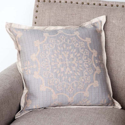 Edge Hill Down Pillow, Weathered Blue (Set-2) | Iron Accents