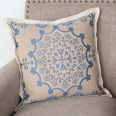 Edge Hill Down Pillow, French Blue (Set-2) | Iron Accents
