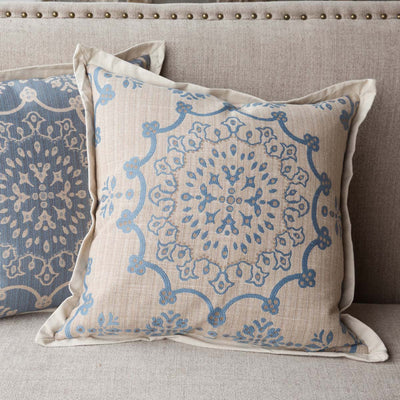 Edge Hill Down Pillow, French Blue (Set-2)