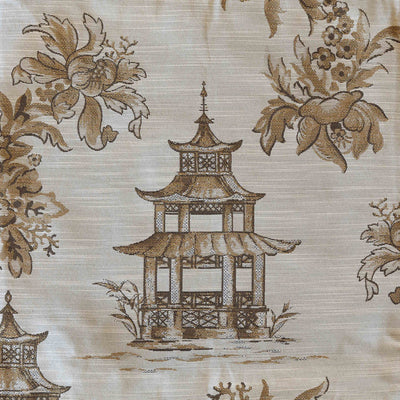 Golden Pagoda Pillow-Iron Accents