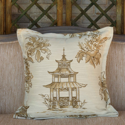 Golden Pagoda Pillow (Set-2) | Iron Accents