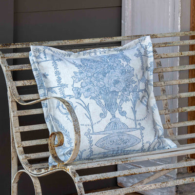 French Quarter Blue Pillow (Set-2) | Iron Accents
