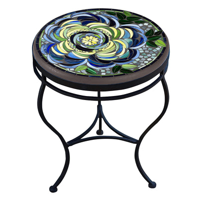 Giovella Mosaic Side Table-Iron Accents