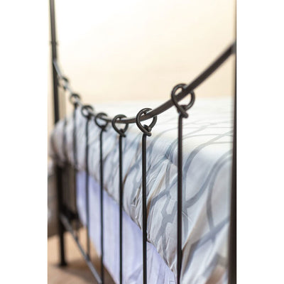 Knot Iron Canopy Bed