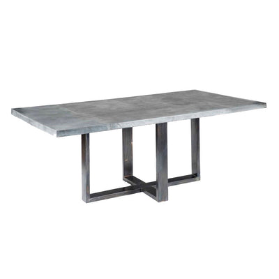 Liam Dining Table with Zinc Top