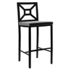 Milano Bar Stool (Set-2)-Iron Accents
