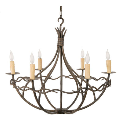 Norfork 6 Arm Chandelier