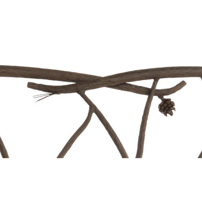Pine Hand Forged Iron Bench