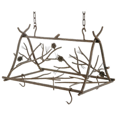 Pine Hand Forged Iron Pot Rack