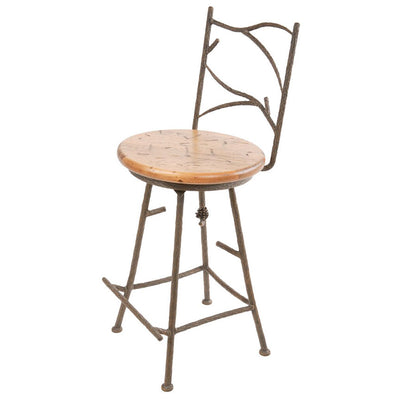 Pine Counter Stool - Distressed Pine