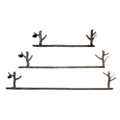 Pine Forged Iron Towel Bars