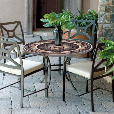 "Provence 42"" Mosaic Patio Set-Iron Accents"