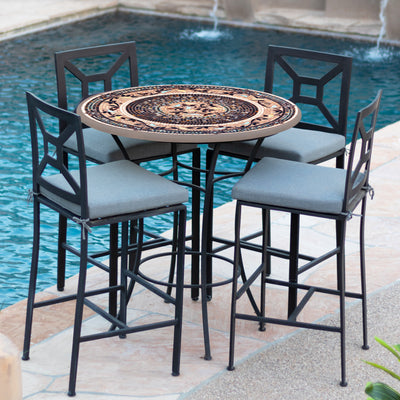 "Provence 42"" Mosaic High Dining Set"