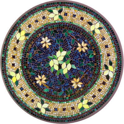 Tuscan Lemons Mosaic C-Table-Iron Accents