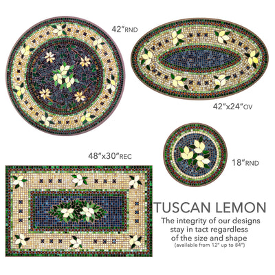 Tuscan Lemons Mosaic Nesting Tables-Iron Accents