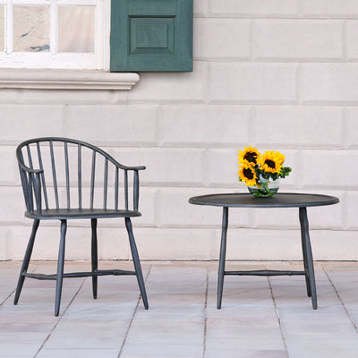 Windsor Low Back Patio Chair (Set-2) | Iron Accents