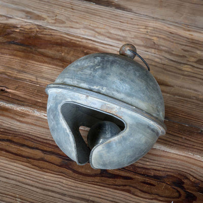 Weathered Tin Jingle Bells-Iron Accents