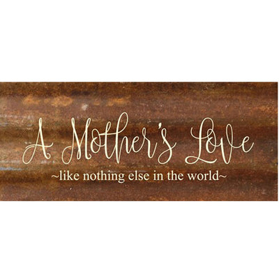 A Mothers Love Metal Wall Sign | Iron Accents