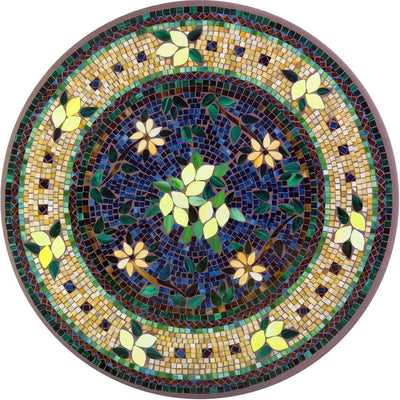 Tuscan Lemons Mosaic Table Tops-Iron Accents