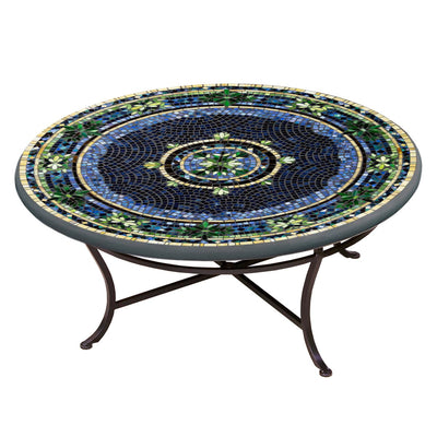 Lake Como Mosaic Coffee Table-Iron Accents