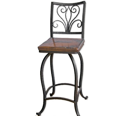 Alexander Counter Stool | Iron Accents