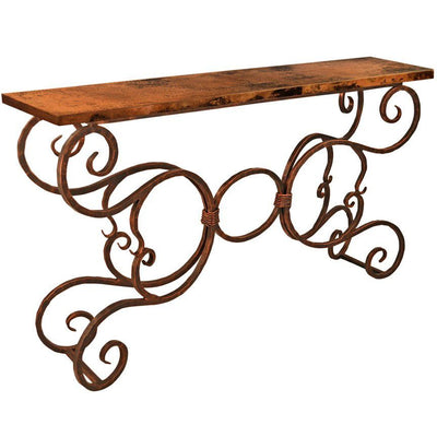 Alexander Console Table with Copper Top