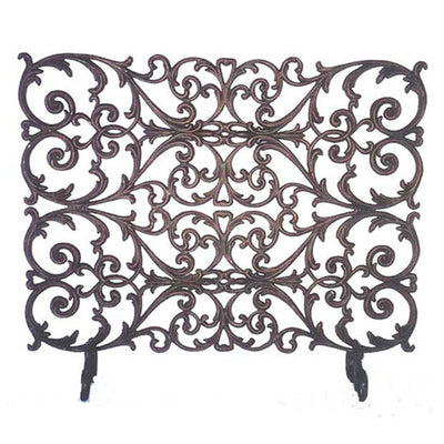 Alexandria French Fire Screen | Iron Accents