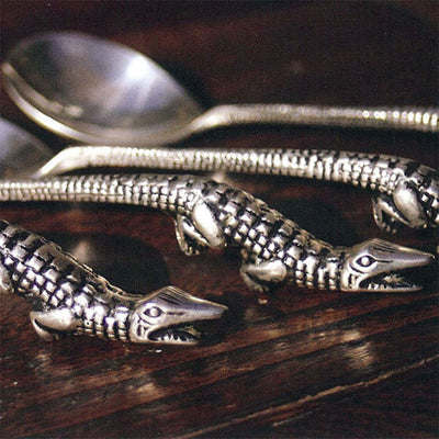 Alligator Soup Spoons (Set-4)