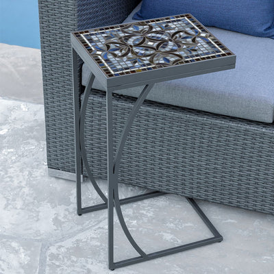 Roma Mosaic C-Table-Iron Accents
