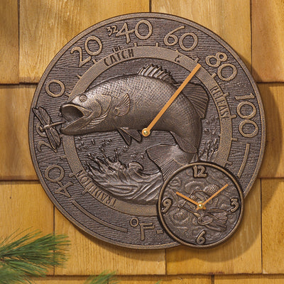Fishermans Thermometer Clock | iron Accents