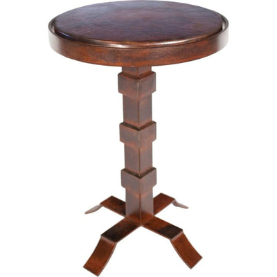 "Round Iron Accent Table or Base for 15"" Top"