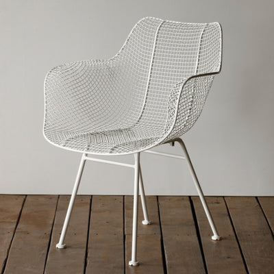 Biscayne Wire Chair - White Side View