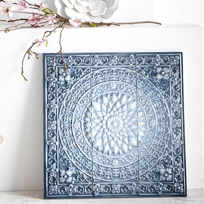 Blue Ombre Medallion Wall Decor