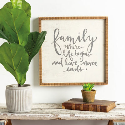 Family Life - Box Sign | Iron Accents