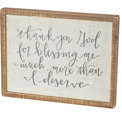 Thank You God - Box Sign-Iron Accents