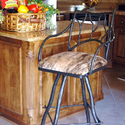 Branches Counter Stool | Iron Accents
