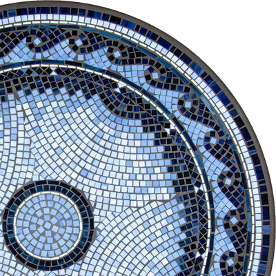 Navagio Mosaic Table Tops-Iron Accents