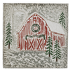 Embossed Christmas Barn Wall Decor