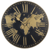 World Map Wall Clock-Iron Accents