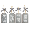 Galvanized Ornament Tags (Set-4)-Iron Accents