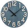 Shiplap Wall Clock-Iron Accents