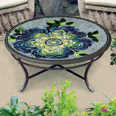 Giovella Mosaic Coffee Table-Iron Accents